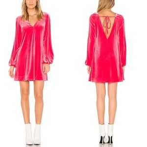 NWT Free People Misha Mini Dress in Hot Pink